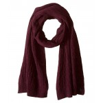 Wool Cashmere Classic Cable Scarf