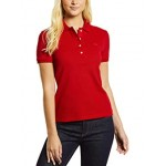 Lacoste Short Sleeve Slim Fit Stretch Pique Polo Red