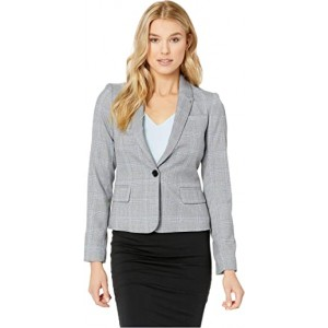 One-Button Jacket Blue Multi