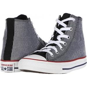 Converse Kids Chuck Taylor All Star Pinstripe (Little Kidu002FBig Kid) Black/Garnet/White