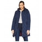 Multi Quilt 35 Belted Puffer Navy