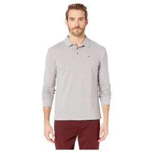 Essential Long Sleeve Polo Light Grey Heather