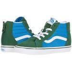 Vans Kids Sk8-Hi Zip (Infantu002FToddler) Two-Tone Mediterranian Blue/Greener Pastures