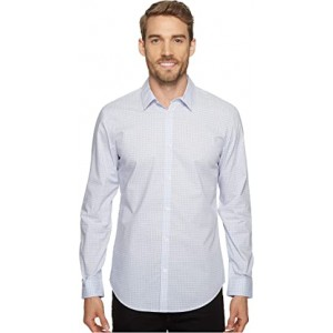 Slim Fit Long Sleeve Infinite Cool Button Down Check Shirt Lavender