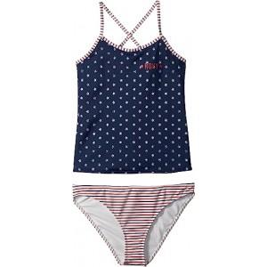 Surfing USA Tankini Set (Big Kids) Dress Blue 4th of July Stars