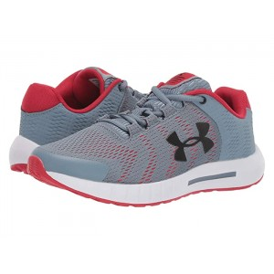 UA GS Pursuit BP (Big Kid) Ash Gray/White/Black