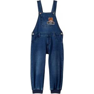 Denim Overalls w/ Teddy Bear Logo On Front (Infant/Toddler)