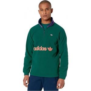 adidas Originals 1u002F2 Zip Fleece Collegiate Green