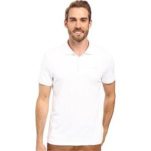 Liquid Cotton Solid Short Sleeve Polo White