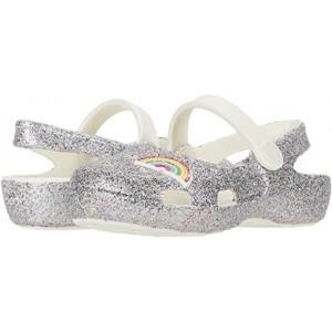 Crocs Kids Classic Glitter Charm Mary Jane (Toddleru002FLittle Kid) Rainbow