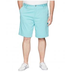 Big & Tall Fashion Solid Deck Shorts Aqua Wave