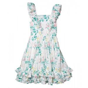 Flutter Sleeve Floral Dress (Toddler/Little Kids/Big Kids)