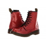 1460 Patent Glitter Youth Delaney Boot (Big Kid) Red Multi Coated Glitter