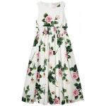 Dolce & Gabbana Kids Abito Senza Maniche Sleeveless Dress (Big Kids) Rose Rosa Fdo Panna