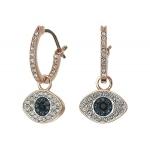 Duo Evil Eye Hoop Pierced Earrings