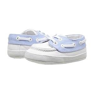 Boat Shoe (Infant) White/Blue