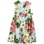 Dolce & Gabbana Kids Abito Dress (Toddleru002FLittle Kids) Fiori Ombre Fdo Azzurro