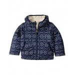 The North Face Kids Reversible Perrito Jacket (Toddler) Montague Blue Sparkle Geo Print
