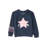 Chaser Kids Ice Cream Star Cozy Knit Raglan Pullover (Toddleru002FLittle Kids) Avalon