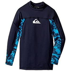 Slash Long Sleeve Rashguard (Big Kids) Navy Blazer