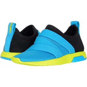 Native Kids Shoes Phoenix (Toddler) Vivid Blue/Jiffy Black/Chartreuse Green
