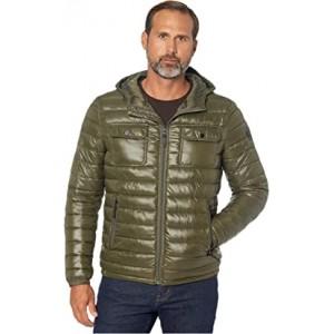 Packable Double Pocket Jacket w/ Hood Olive