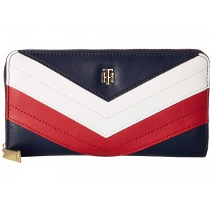 Corp Gift Large Zip Wallet Navy/Red/White