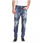 Cool Guy Holy Dark Wash Jeans in Blue