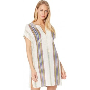 Stripe Short Tunic Cover-Up