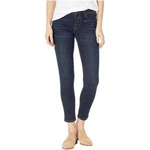Button Up Skinny Jeans in Dark Blue Dark Blue