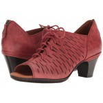Cobb Hill Spencer Perforated Lace-Up Red Nubuck