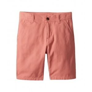 Flat Front Shorts (Toddler/Little Kids/Big Kids) Pink Twill