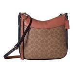 Coated Canvas Signature Color Block Chaise Crossbody