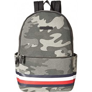 Stephan Corporate Stripe Camo Canvas Backpack Green