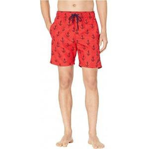 Anchor Swim Shorts Engine Red
