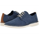 TOMS Preston Navy Washed Canvas/Stitch Out