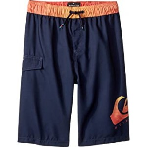Lava Logo Volley Shorts (Big Kids) Navy Blazer