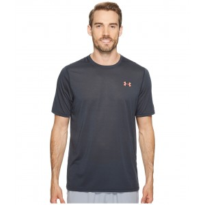 UA Threadborne Short Sleeve Anthracite/Marathon Red