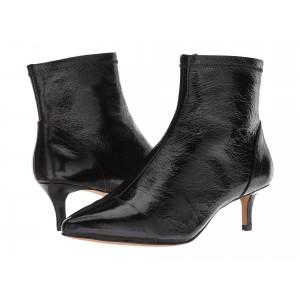 Siya Black Shiny Leather