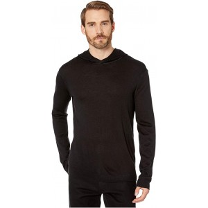 Cashmere Blend Pullover Hoodie with Rib Stitch Y2748V4