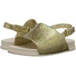 Mini Beach Slide Sandal (Toddler/Little Kid) Gold Glitz