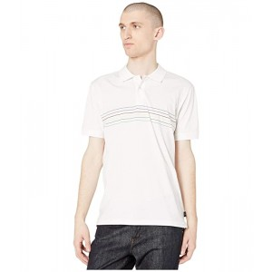 Paul Smith Stripe Detail Front Polo Shirt Black