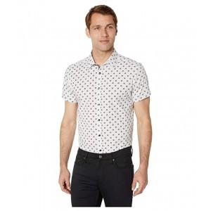Short Sleeve Hibiscus Print Shirt White
