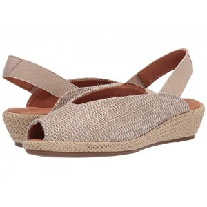 Luci Slingback Natural/Silver Fabric