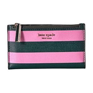 Small Slim Bifold Wallet Pink Multi
