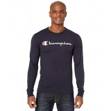 Classic Jersey Graphic Long Sleeve Tee Navy