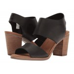 Majorca Cutout Sandal Black Leather