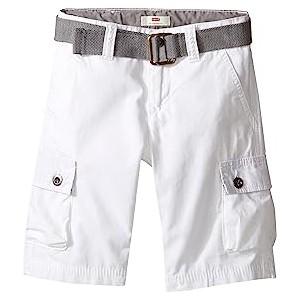 Westwood Cargo Shorts (Little Kids) White