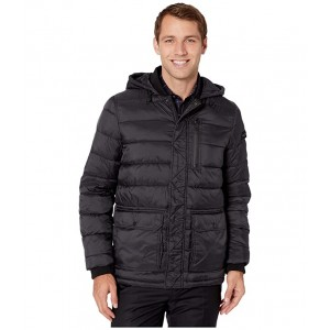 Hooded Puffer w/ Oversized Pockets Black