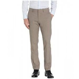 Stretch Heather Herringbone Slim Fit Flat Front Flex Waistband Dress Pants